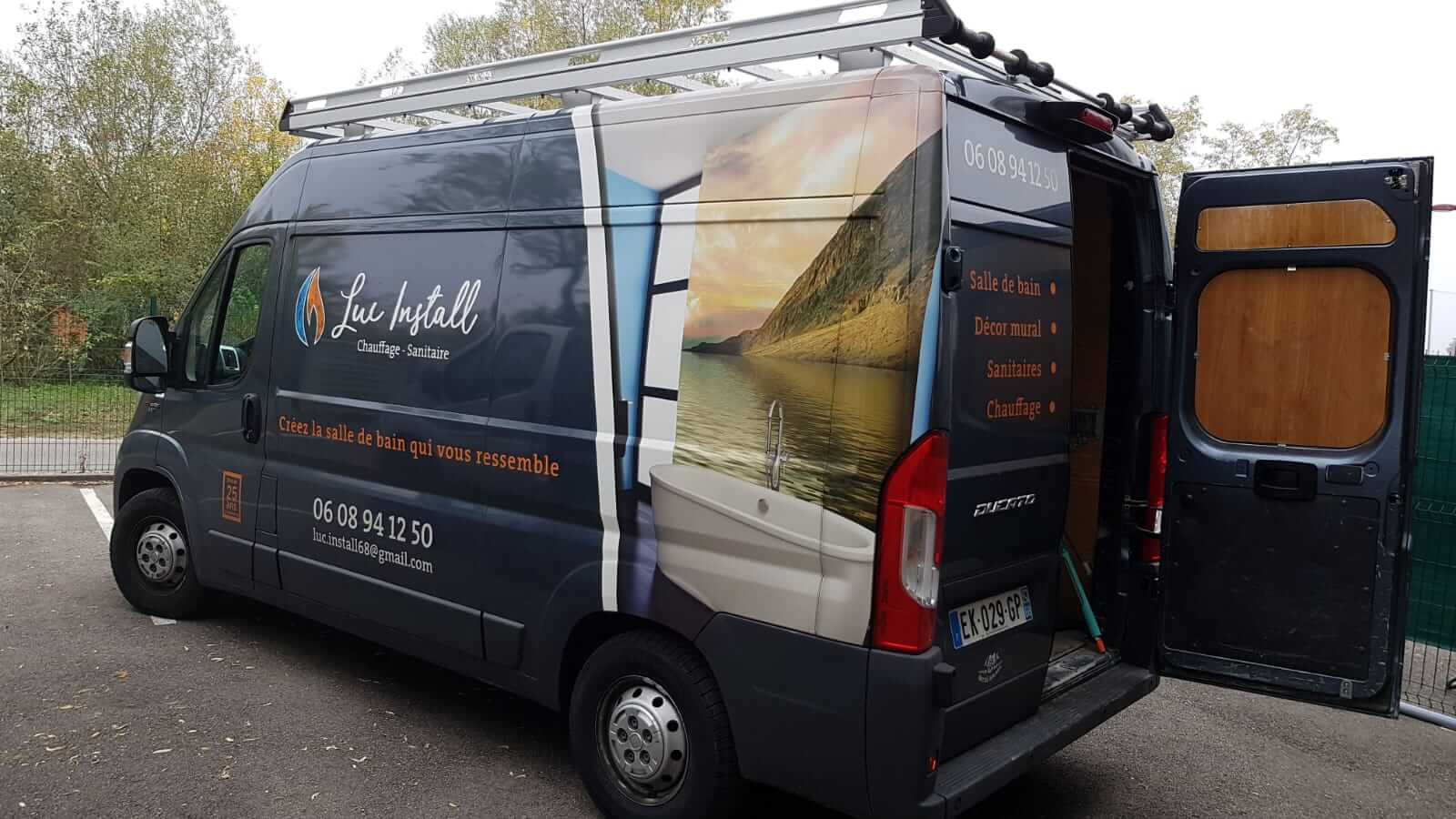 camionnette luc install